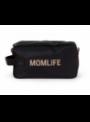 Toaletná taška Momlife, čierno-zlatá