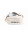 Toaletní taška Momlife, bílo-černá