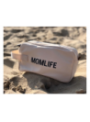 Toaletná taška Momlife, bielo-čierna