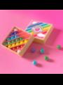 Mini box guľôčok, dúha