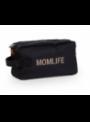 Toaletní taška Momlife, černo-zlatá