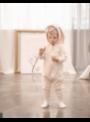 Béžové dětské body s oušky ZAJÍČEK