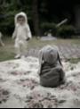 Šedé dětské body s oušky ZAJÍČEK