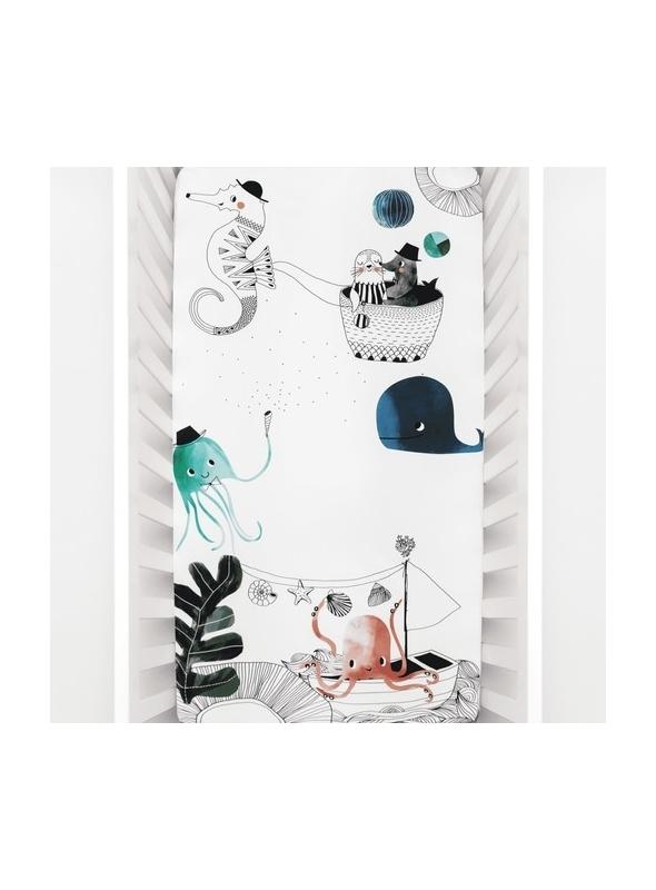 Prostěradlo na dětskou postýlku 70x140 cm- Podmořská láska