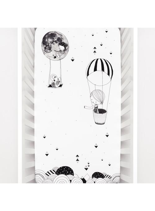 Prostěradlo na dětskou postýlku 70x140 cm- Johanka a balón