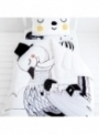 dětská přikrývka do postýlky - Labuť, 114x142cm