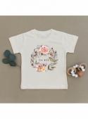 Live wild - detské tričko s ružičkami, matching rodinné - 2T
