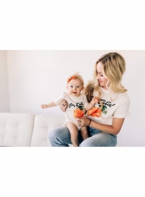 Hey cutie - dámske tričko s pomarančom, matching rodinné - XS