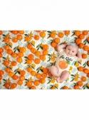 Hey cutie -dětské body s pomerančem, matching rodinné