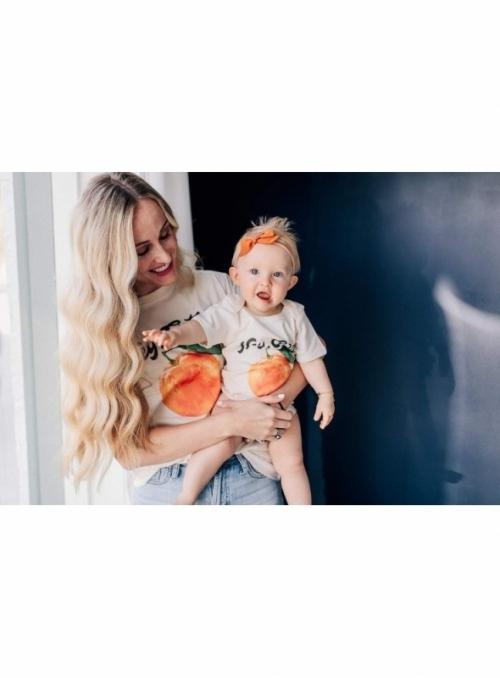 Hey cutie -detské body s pomarančom, matching rodinné - 0-3 mesiace