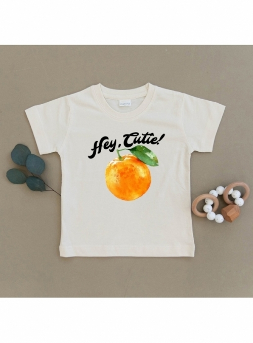 Hey cutie -detské body s pomarančom, matching rodinné - 2T