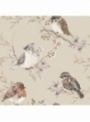 Ptáčci, béžová - tapeta na stěnu