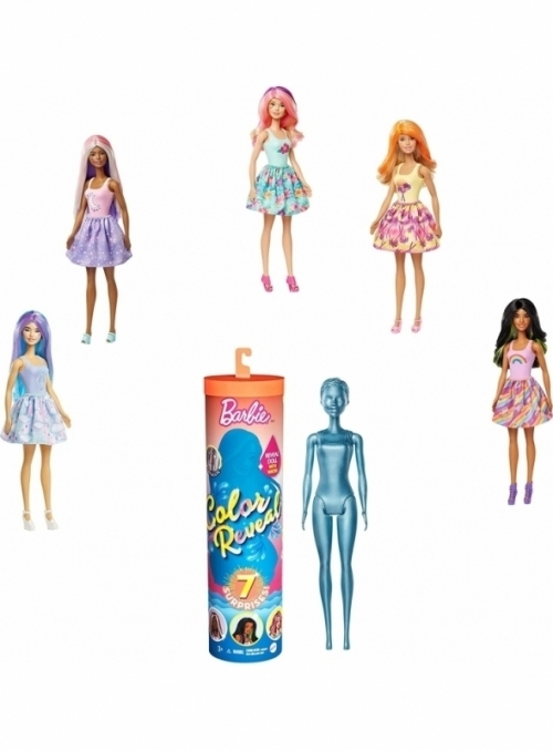 Mattel Barbie - LIMITKA - color reveal, tajemné odhalení skryté podoby Barbie