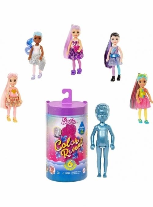 Mattel Barbie chelsea - LIMITKA - color reveal, tajemné odhalení skryté podoby Barbie