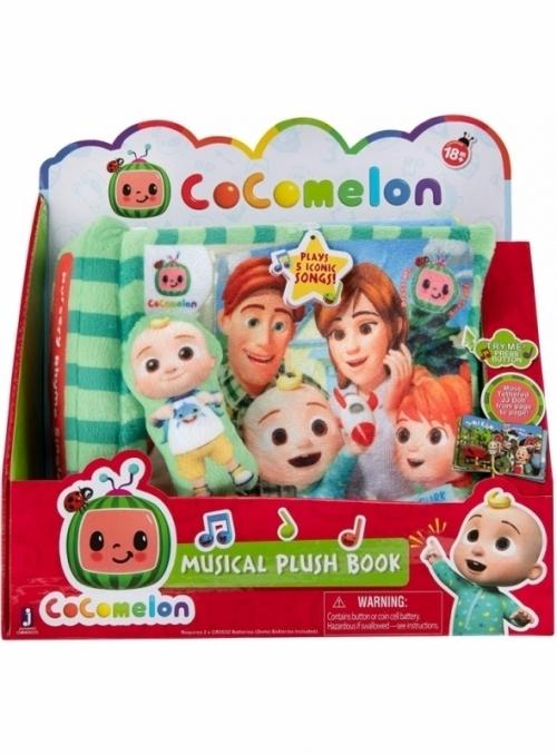 Cocomelon - hudobní dětská plyšová kniha + JJ záložka