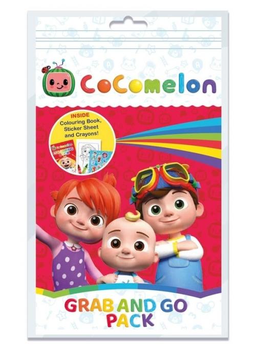 Cocomelon - set omalovánky, voskovky a nálepky v balení