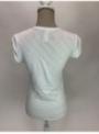 Dámské tričko s U-výstřihem a vyhrnutým rukávem