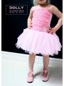 DOLLY baleríny 15GB růžičkové saténové růžové