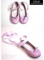 DOLLY by Le Petit Tom ® klasické dívčí baleríny 22GB s hadím vzorem, levandulové