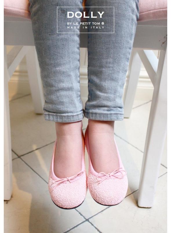 DOLLY by Le Petit Tom ® klasické dívčí balerínky růžové ' cukrátkové ' 26GB