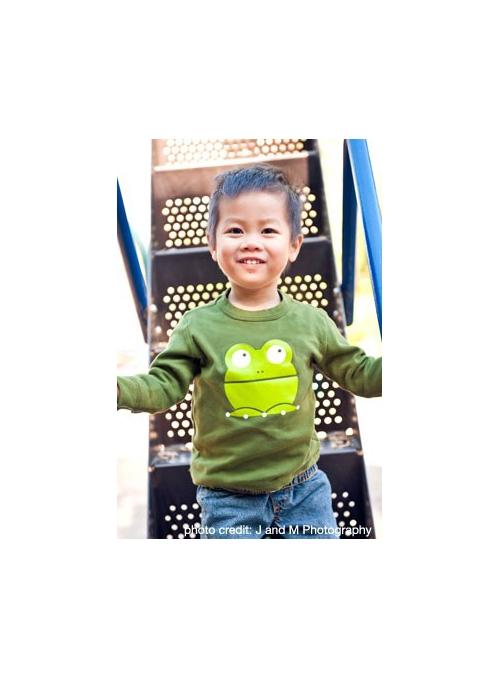 Žabka Presto - olivové tričko velikost 4T