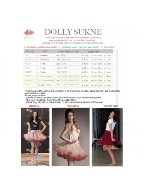 velikost DOLLY sukní