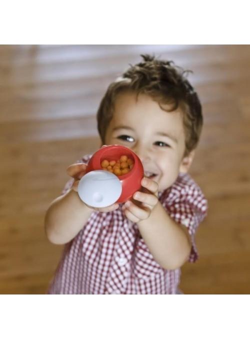 SNACK BALL - míček na uskladnění potravin, bílá + červená