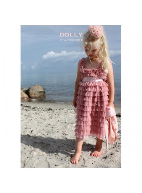 Úplně nařasené šaty kouřově růžové