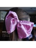 CLASSIC SATIN HAIR BOW dark pink