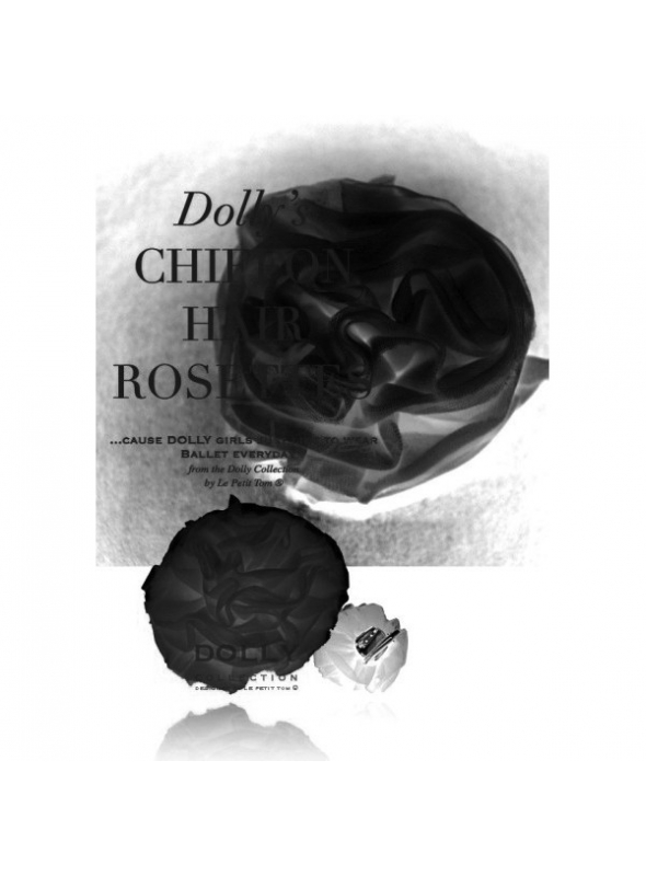 CHIFFON HAIR ROSETTE black