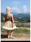 LA DOLLY Tweed ballet dress from LINTON TWEED - gold / beige