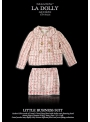 LA DOLLY Business tweed suit from LINTON TWEED - pink glittery