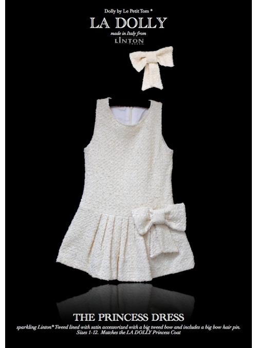 LA DOLLY PRINCEZNIČKOVSKÉ šaty z LINTON tvíd – bílé