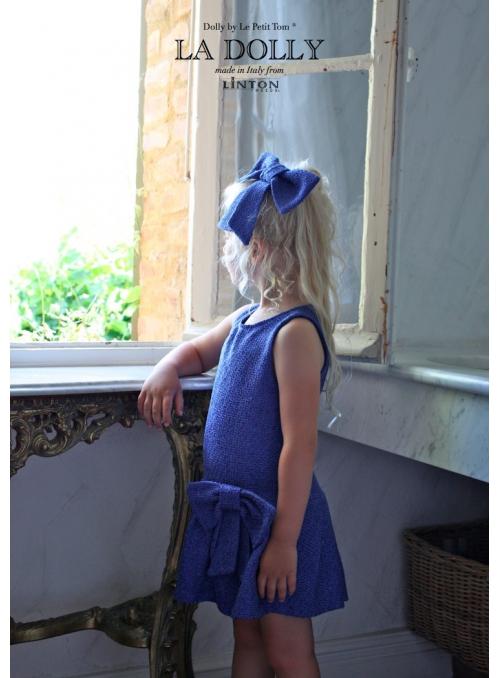 LA DOLLY PRINCEZNIČKOVSKÉ šaty z LINTON tvíd – modré