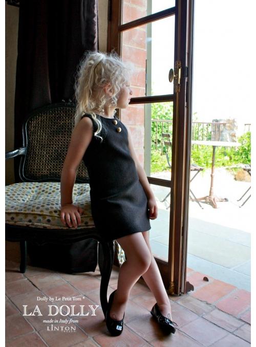 LA DOLLY MALÉ ČERNÉ ŠATY šaty z LINTON TVÍDU – černé