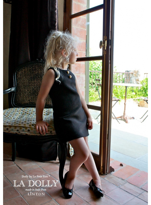 LA DOLLY little black dress from LINTON TWEED - black