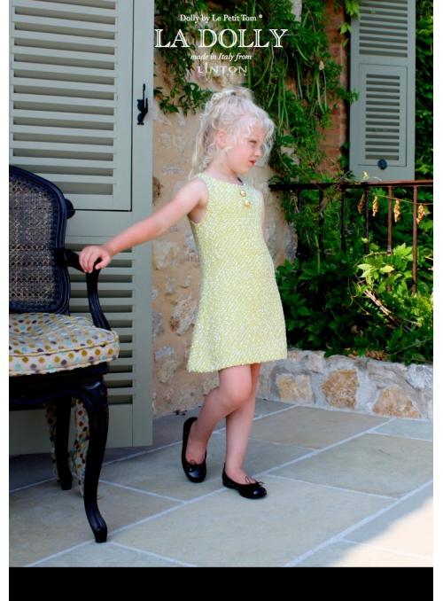 LA DOLLY SUNSHINE šaty z LINTON TVÍDU – zlato/žluté