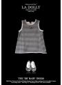 """LA DOLLY """"BB baby šaty"""" –černé kárované"""