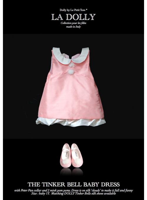 """LA DOLLY """"TINKER BELL šaty"""" –  růžové"""