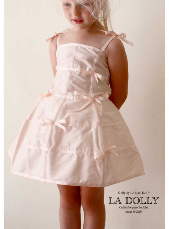 """LA DOLLY """"šaty MANEKÝNA"""" – bledě růžové"""