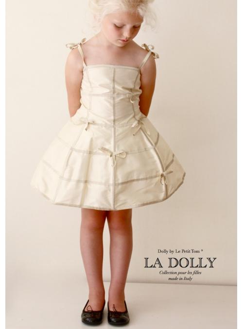 """LA DOLLY """"šaty MANEKÝNA"""" – krémové"""