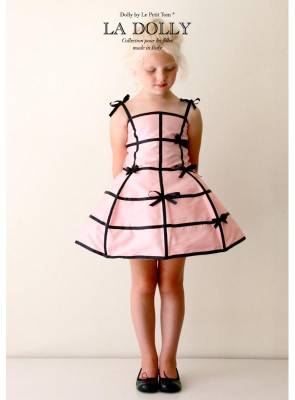 "LA DOLLY ""šaty MANEKÝNA"" – růžovo-černé"