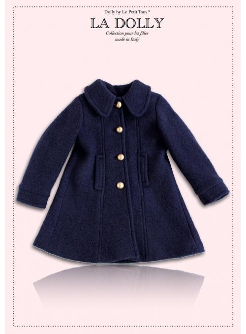 """LA DOLLY vlněný """"panenkovský kabát"""" – modrý"""