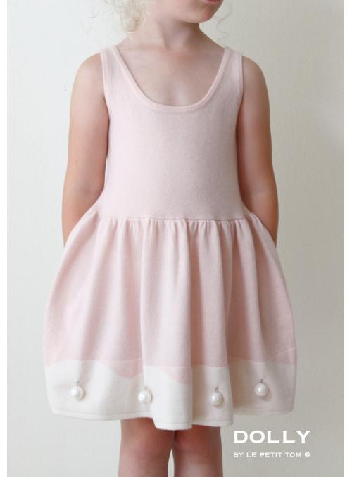 """PERLOVÉ kašmírové šaty """"JAHODOVÝ DORT"""""""
