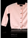 PEARLED UP CASHMERE CARDIGAN light pink