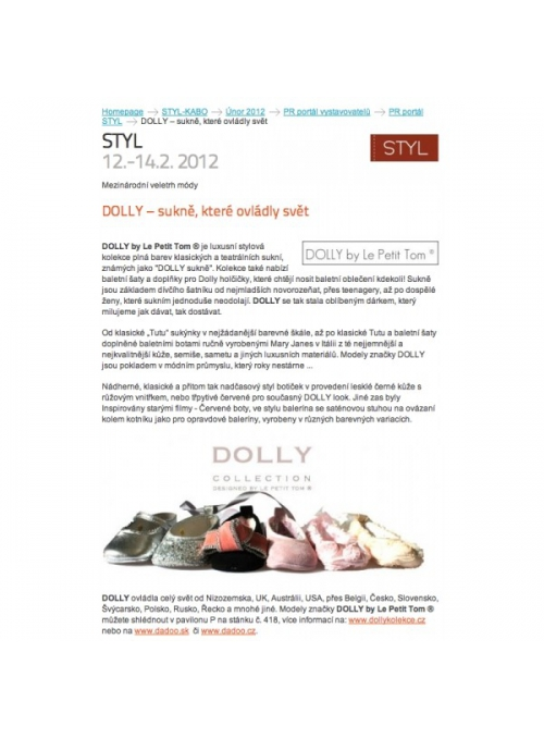 DOLLY – article about the czech fair