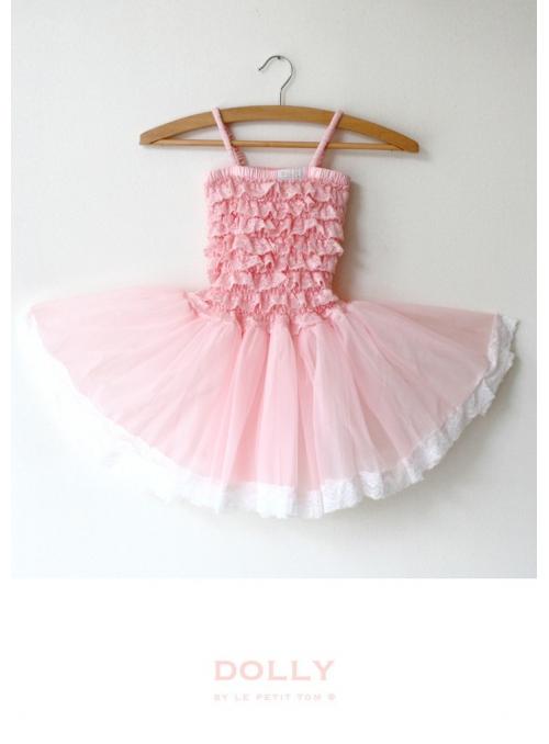 Krajkové tutu šaty růžičkově růžové