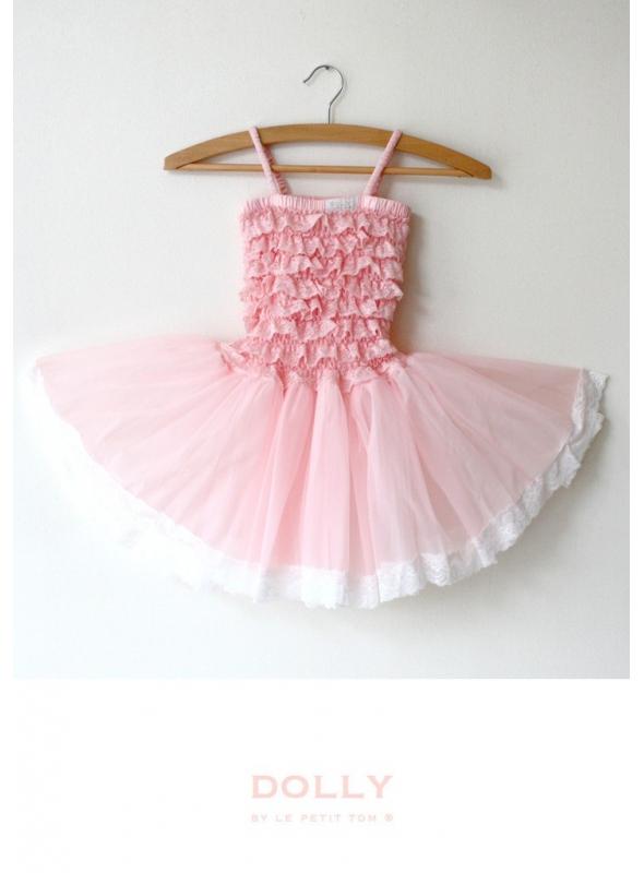 LACE TUTU DRESS rosepink