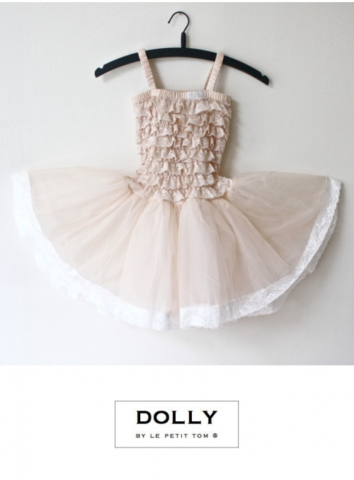 LACE TUTU DRESS cream