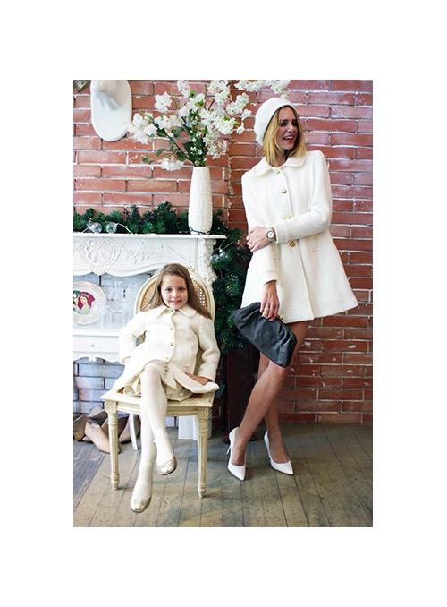 """LA DOLLY vlněný """"panenkovský kabát"""" – bílý"""